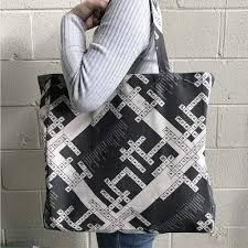Scientists Crossword Puzzle Canvas Bag