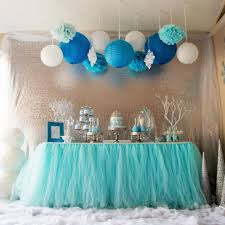 Turquoise And White Wedding Decorations Aqua Blue Tutu Table Skirt Custom Made Wedding Supplies Sashes