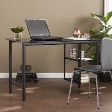 Modern L Shaped Desk Glass Top U2014 All Home Ideas And Decor  Modern Glass Desk Office