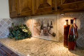 Mural Tiles For Kitchen Decor Kitchen Beautiful Kitchen Design Ideas With Wine Mural Tile 35