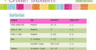 Crochet Rochelle Hand Size Chart