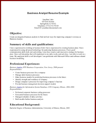 Ideas Of Cover Letter Business Resume Examples Samples Objective For