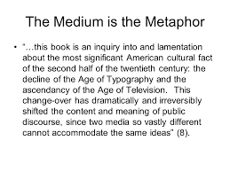 """amusing ourselves to death public discourse in the age of show    the medium is the metaphor """"…this book is an inquiry into and lamentation about"""