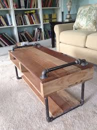 Diy Industrial Furniture Reclaimed Pallet And Steel Pipe Coffee Table Desk