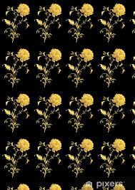 yellow decorative flower on black