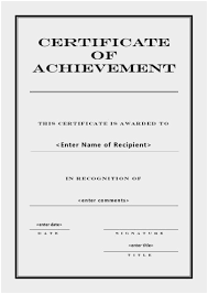 blank certificates blank certificate of completion templates free unique award