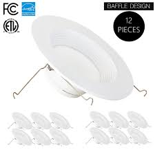 parmida pleddn5 612w5000kdim 1100 lumens 5 6 led retrofit recessed light fixture day light 12 pack led lighting bargain