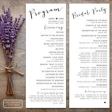 Wedding Program Designs Printable Wedding Program Design Pdf The Isabelle Collection Tea