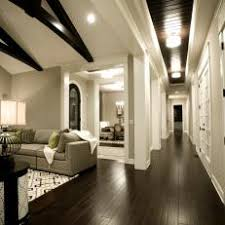 Dark hardwood floor Kitchens Contemporary Hallway Features Dark Hardwood Flooring Photos Hgtv Photos Hgtv