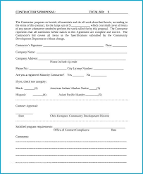 Contractor Proposal Template Sample Proposal Templates In Word Construction Bid Template