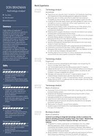 Sales Analyst Resume Technology Analyst Resume Samples And Templates Visualcv