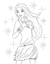 Barbie Mermaid Coloring Pages Printable Princess For Girls Moonoon