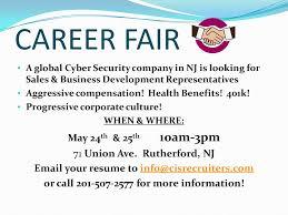 Cis Recruiters Cis Hosts Cyber Sales Career Fair