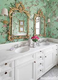 Image Small Bathroom Homedit 30 Gorgeous Wallpapered Bathrooms