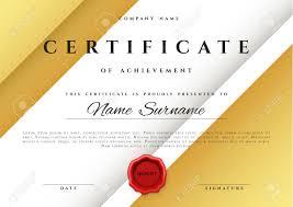template certificate design in gold color award certificate  template certificate design in gold color award certificate in flat style diploma frame awarding