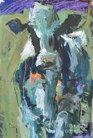 artwork painting abstract cow painting by robert joyner