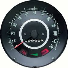 1967 camaro parts dash components gauges oe classic industries 1967 camaro firebird out speed warning standard 120mph speedometer