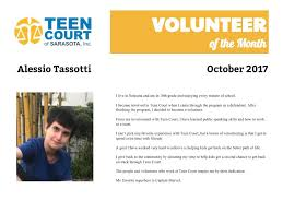 Teen court by donating