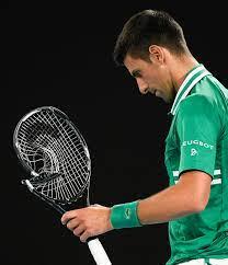 Novak Djokovic smashes racket before ...