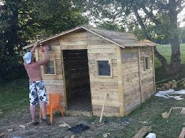 pallet shed ideas by cabin out of pallets shed or house