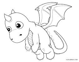 Dragon Coloring Pages Cute Baby Pictures Colouring Free Enigmatikco