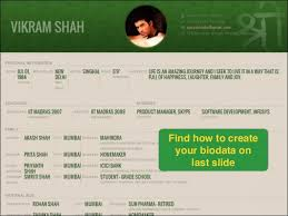 find how to create your biodata on last slide matrimonial resume format