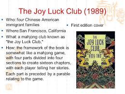 the joy luck club sdu iuml frac dec ppt video online 2 the