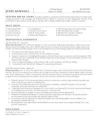 Retail Sales Resume Objective Retail Sales Manager Resume Retail