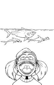 Shark Coloring Pages High Definition Finding Nemo Bruce The