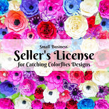 Paper Flower Business New Improved Paper Flower Sellers License Catching Colorflies