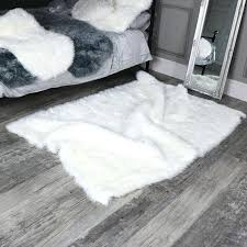 white gy rugs large faux fur rug uk