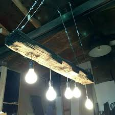 wooden beam chandelier the trestle led wood canada reclaimed