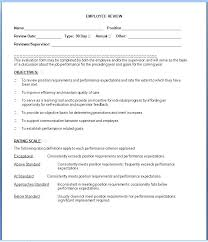 Job Performance Review Samples Yearly Performance Review Template Employee Comments On Annual