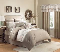 coolest coastal bedroom themed with chasmere and ivory bedding set and seashell embroidered comforter set