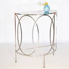 round console table. Alluring Round Console Table With Antoine Nickel Plated Half From Worlds Away