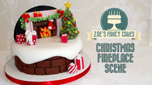 Christmas Picture Backdrop Ideas Christmas Fireplace Backdrop Cake Decorating Snow Theme How To