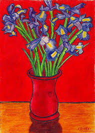 painting with a twist blue vase red flowers yahoo image search results