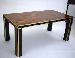 Italian Walnut Dining Table Vintage Italian Lacquer Walnut Dining Table By Willy Rizzo For