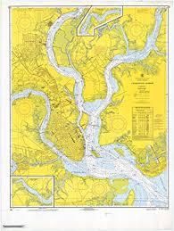 Charleston Nautical Chart Amazon Com Map Charleston Harbor 1968 Nautical Noaa