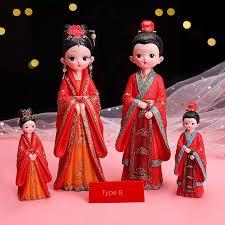 Búp Bê Đám Cưới Chú Rể Và Cô Dâu Cổ Xưa Phong Cách Trung Quốc Đồ Trang Trí  Bức Tượng Nhỏ Trang Trí Đám Cưới