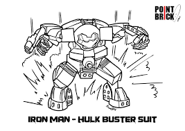 Disegni Da Colorare Lego Hulk Buster Ed Elves Coloring Pages