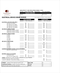 Electrical Invoice Template Free 100 Electrical Invoice Templates Free Sample Example Format 58