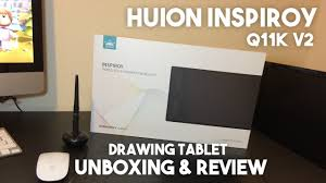 <b>Huion Inspiroy Q11K V2</b> Graphics Tablet Review & Unboxing ...