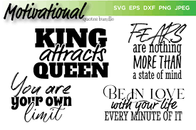 ' svg (scalable vector graphics) is vector image format based on an xml for 2d graphics. Motivational Quotes Bundle Vector Graphic By Saudagar Creative Fabrica