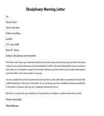 employee warning letter 25 sle