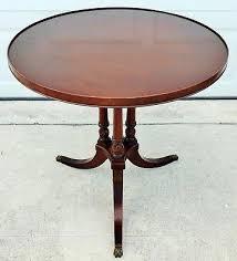 pedestal accent table antique vintage imperial mahogany round pie side end pedestal accent table diy pedestal