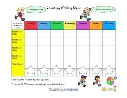 Pedometer Tracking Chart Make Tracking Childrens Healthy Goals Fun With Our Very