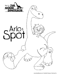 The Good Dinosaur Coloring Pages Getcoloringpagescom