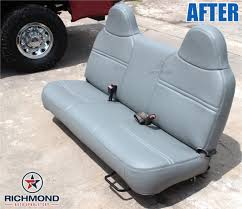 1999 2001 ford f 350 xl vinyl bottom bench seat cover gray