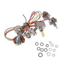 electric guitar wiring harness kit 2v2t with pot jack 3 way switch electric guitar wiring harness electric guitar wiring harness kit 2v2t with pot jack 3 way switch for gibson lp